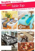 5530 Simplicity Pattern: Home Decorating - Table Cloths, Place Mats, Table Runners and Chair Covers